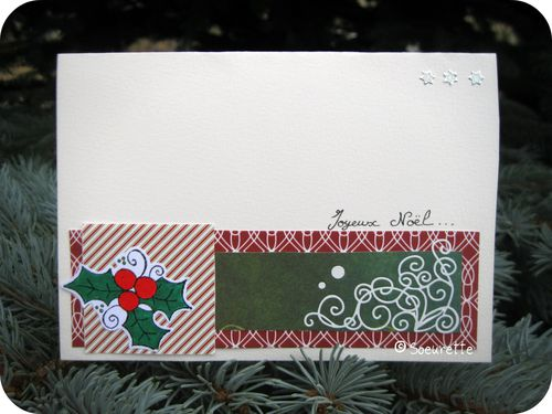 Carte Voeux Noël Nouvel An Christmas New Year Card Scrap S