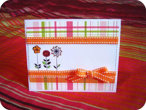Scrap'Inès Carte Card Peg We R Memory Keepers flower stamp