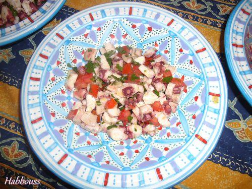 salade de poulpe (slata quarnit)