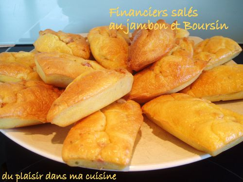 financiers au jambon et Boursin (1)