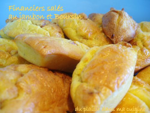 financiers au jambon et Boursin (2)