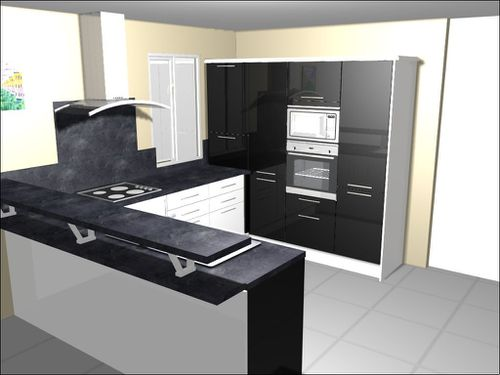 notre future cuisine plan en 3d construction faty et carlito. Black Bedroom Furniture Sets. Home Design Ideas