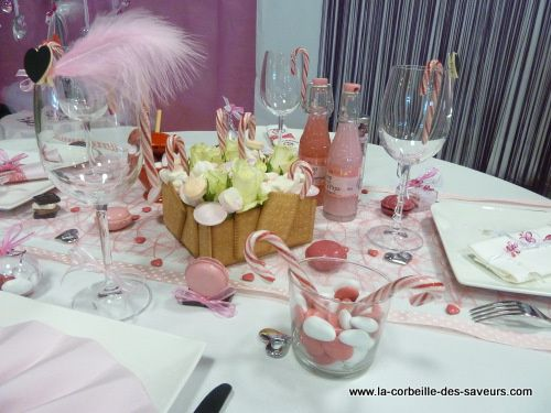 D co de table theme gourmandise for Deco table gourmandise