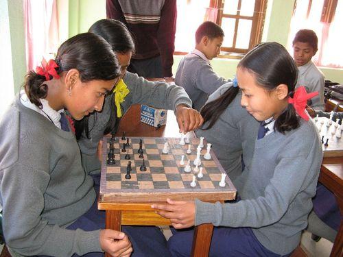 Bhaktapur - enseignement des échecs
