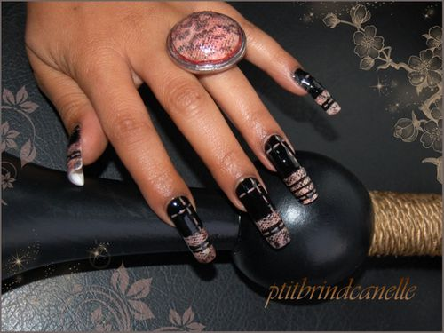 nail art peau de serpent