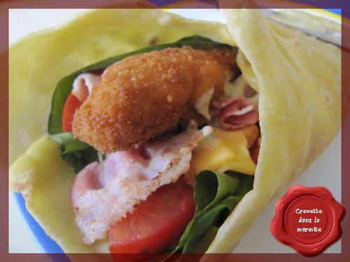 Wraps poulet croustillant & bacon3