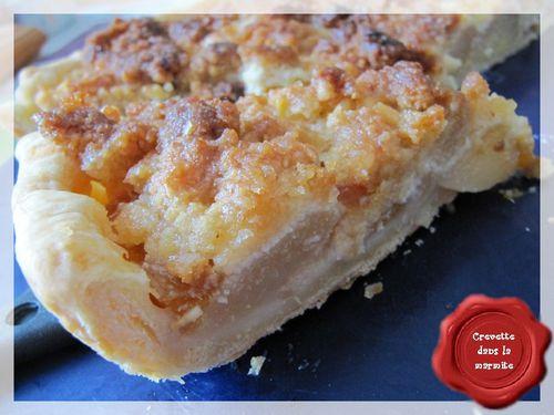 Crumble pêche-abricot sur tarte4