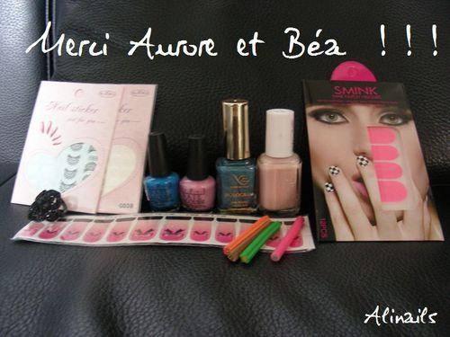 Cadeau Aurore et Béa