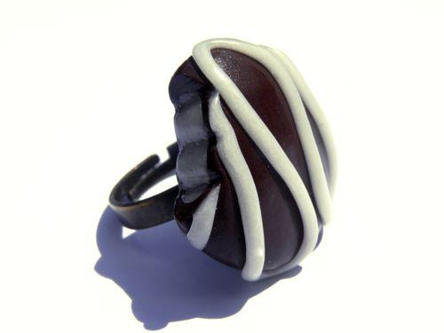 bague chocolat fimo