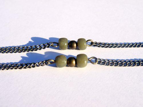 sautoir perles jade fimo