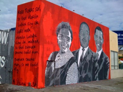 Tle homework mural on civil rights heroes welcome to for Mural mr brainwash