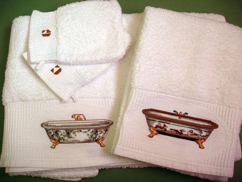 serviette baignoire