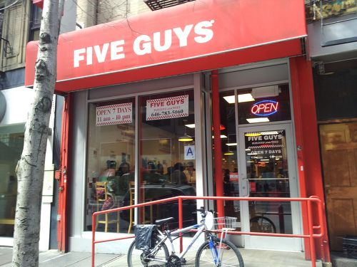 five guys ny out