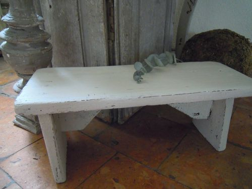 Cheap adorable petit banc ancien de ferme en chne patin - Restaurer etabli menuisier ...