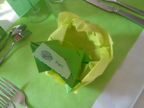 Pliage serviette de table grenouille - Pliage serviette de table ...