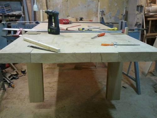 table contemporaine chene massif