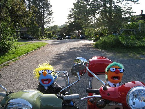 muppets in scooters
