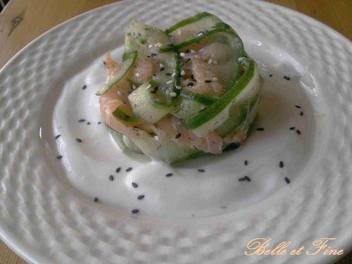 tagliatelle concombre saumon
