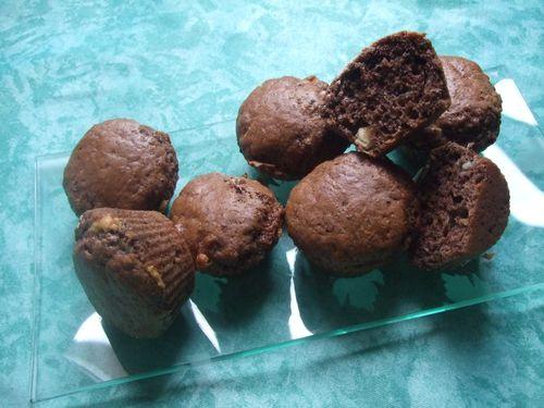 muffins choco blanc