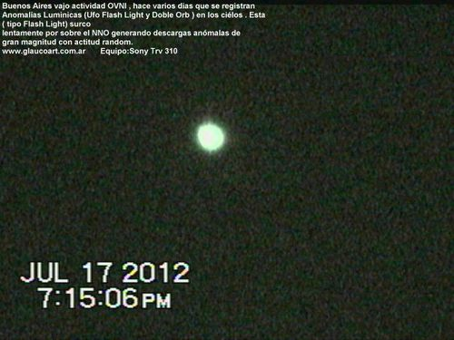 Julio 17,2012 Ufo Flash II Argentina