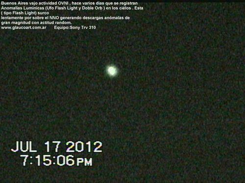 Julio 17,2012 Ufo Flash III Argentina