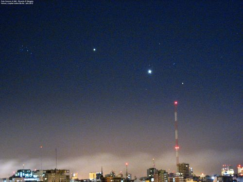 Venus y Jupiter 2012