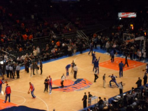 Les Knicks au Madison Square Garden New York