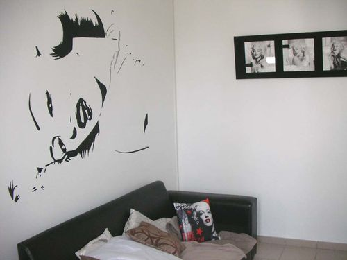 d co murale marilyn monroe peintures murales portraits et cr ations. Black Bedroom Furniture Sets. Home Design Ideas
