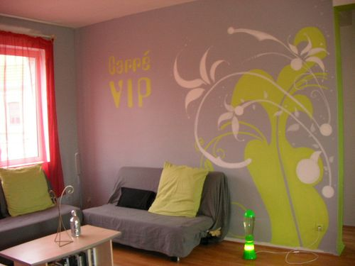 d coration murale carr vip peintures murales portraits et cr ations. Black Bedroom Furniture Sets. Home Design Ideas