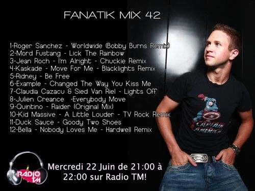 Fanatik Mix 42 By Julien Créance sur Radio TM!