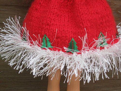 tuto tricot, barbie noel 2012
