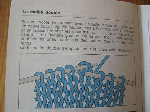 tricoter une maille endroit double