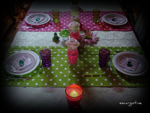 2011-07-04 table petits pois rayures - art floral table 008