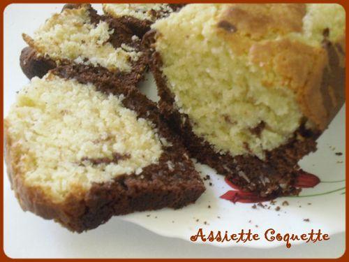 gâteau marbré coco et chocolat (1)