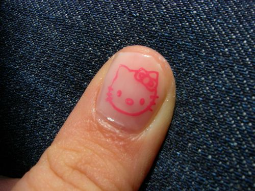 Hello KITTY nails 006