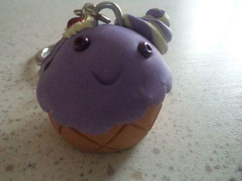FIMO Cupcake kawai porte clef (6)