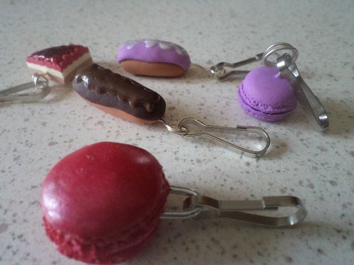 Fimo divers charm gourmands (3)
