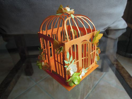 64 - Photophore Cage Papillons