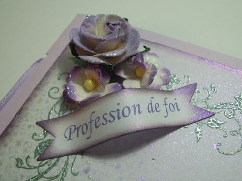 188 - Menu Profession de Foi