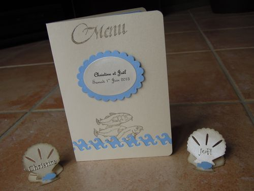 042 - Marque-place Mariage