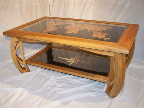 Table basse termin e gooldri for Vitre pour table basse