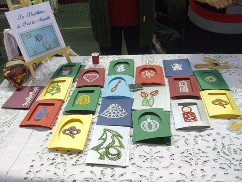 cartes de noël en dentelle