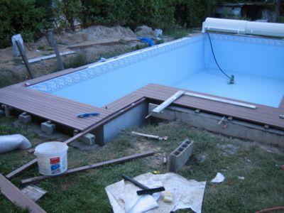 mise en place des margelles et terrasse faire une. Black Bedroom Furniture Sets. Home Design Ideas