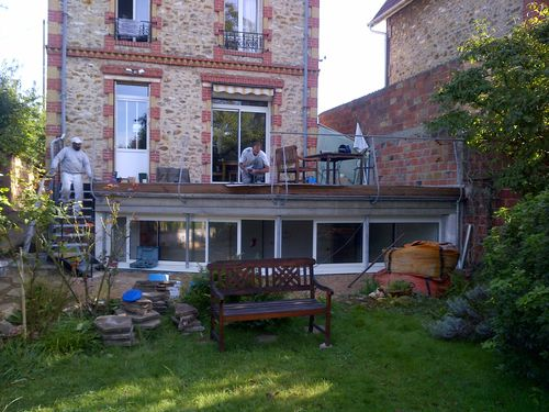 Saint leu la foret extension et terrasse entreprise for Extension sur terrasse