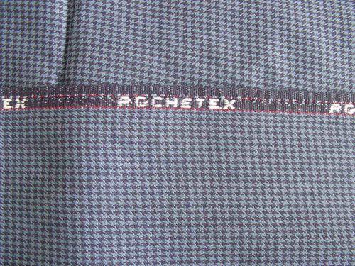 Tissu Rochetex pied de poule bleu