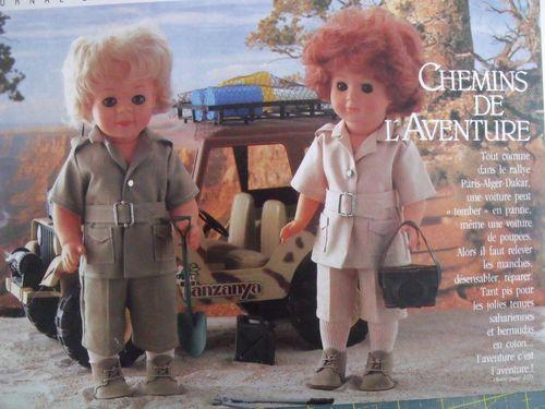 Modes et Travaux mai 1984 Chemins de l'aventure - Saharienn
