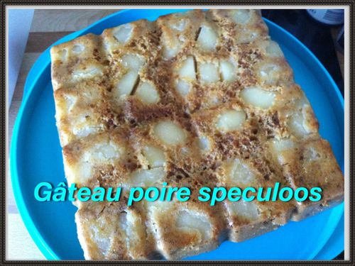 gateau poire speculoos