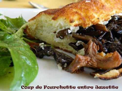 omelette de la mère poularde aux champignons