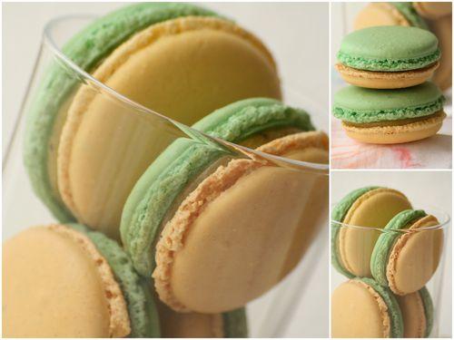 Macarons citron basilic1