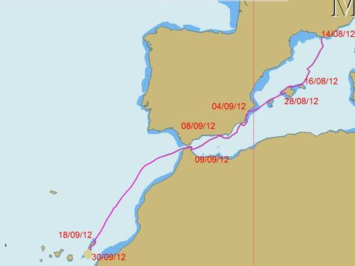 route france-canaries